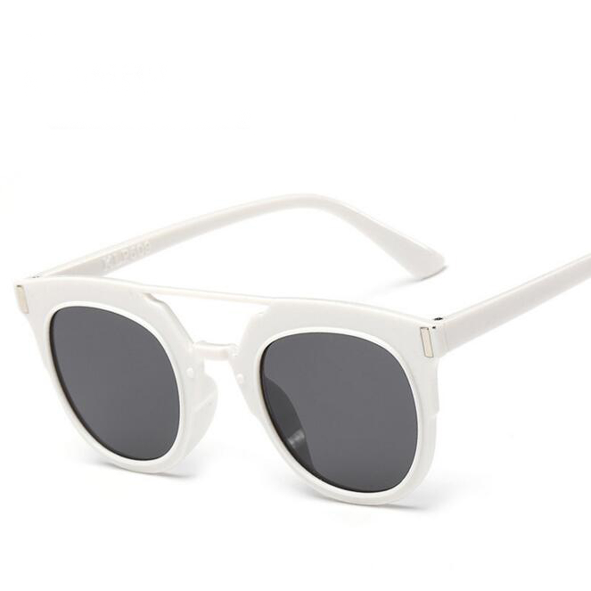classic fashion white frame women sunglasses vintage men oval mirror uv400 sport sun glasses oculos feminino