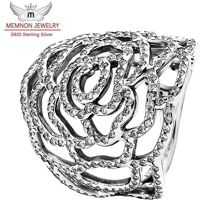 2015 New Rose ring 925 sterling silver jewelry Engagement rings Wedding rings For Women fine Jewelry for men &amp; women RIP681<br><br>Aliexpress