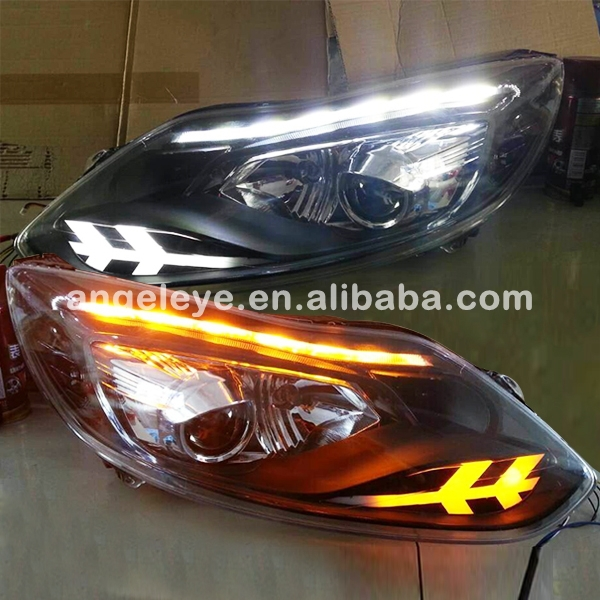 FOR FORD New for Focus 3 LED Head Lamp Double Color 2012-2014 year ST Style JC(China (Mainland))