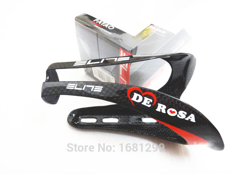 Гаджет  2pcs Newest ELITE DEROSA Road bike 3K full carbon fibre drink water bottle cages bicycle bottle holder with retail box Free ship None Спорт и развлечения