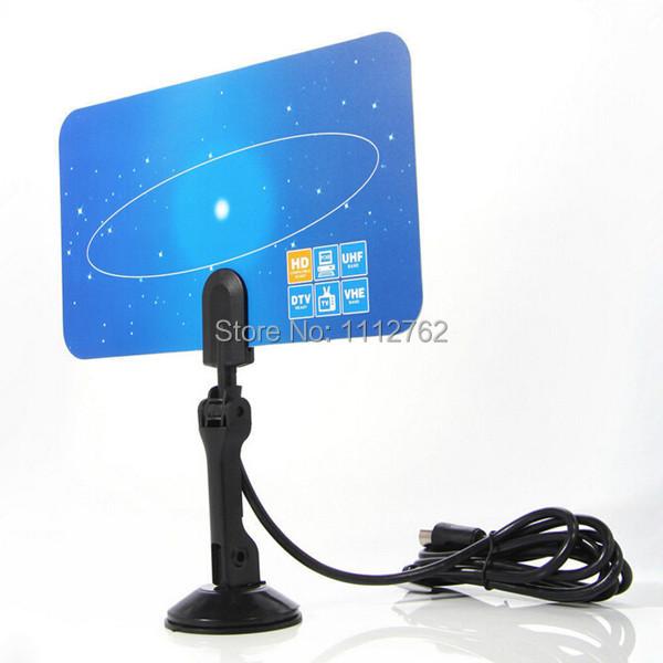 1PC Digital Indoor TV Antenna HD TV HD VHF UHF Flat Design High Gain EU Plug FZ2607 8ED3k(China (Mainland))
