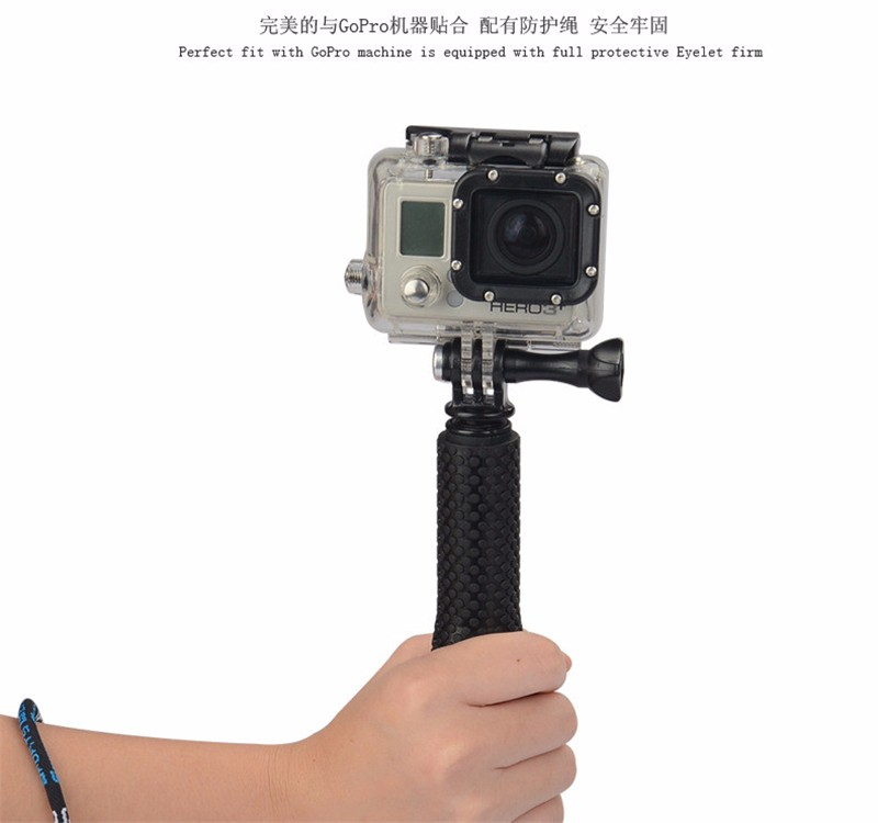 Extendable Action Cemera Handheld Monopod Tripod + adapter for gopro go pro HERO4 3+ 3 2 HD sj4000 xiaomi yi camera Accessories