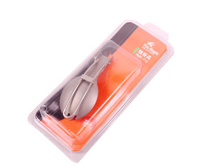 Titanium Folding Spork Outdoor Cutlery Camping Spoon FMT-T10(China (Mainland))