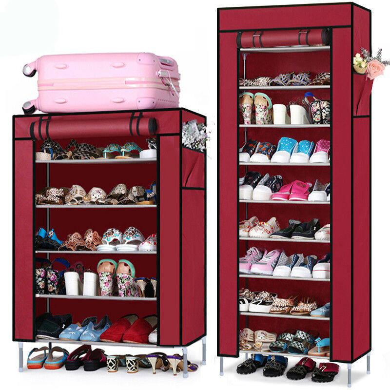 Ru domestic delivery non-woven fabrics shoe rack shoe cabinet for living room home furniture shelf to shoe shoe storage(China (Mainland))
