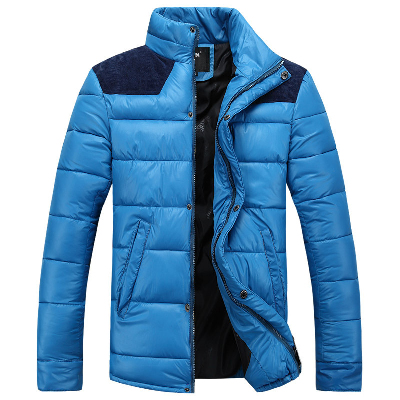 2015 new men down jacket coat / high quality men's fashion hot style thick parka cotton jacket men(China (Mainland))