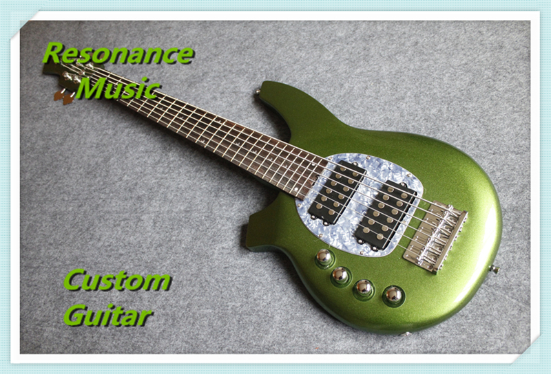 Real Pitures 6 String Left Handed Music Man Bongo Electric Bass Guitars Custom Available(China (Mainland))
