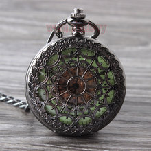 Steampunk Stainless Steel Mechanical pocket watch