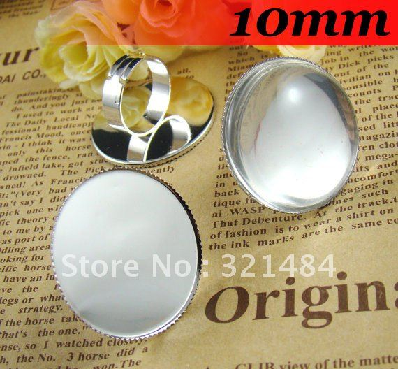 Silver Plated 300pcs 10mm Round with Tooth Gemstone Cameo Cabochon Setting Ring Base Ring Blanks<br><br>Aliexpress