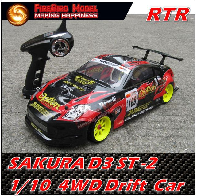 SAKURA D3 ST-2 1/10 Scale  Professional Belt drive 4WD Rc Drift  Car ,RTR version ,Free shipping<br><br>Aliexpress