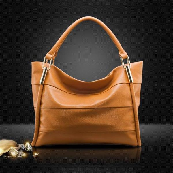 Гаджет  Hot!!! 2015 New Women Handbag Genuine Leather Bag Stripe Shoulder Bag Fashion Women Leather Handbag Casual Tote Vugue Bolsas None Камера и Сумки