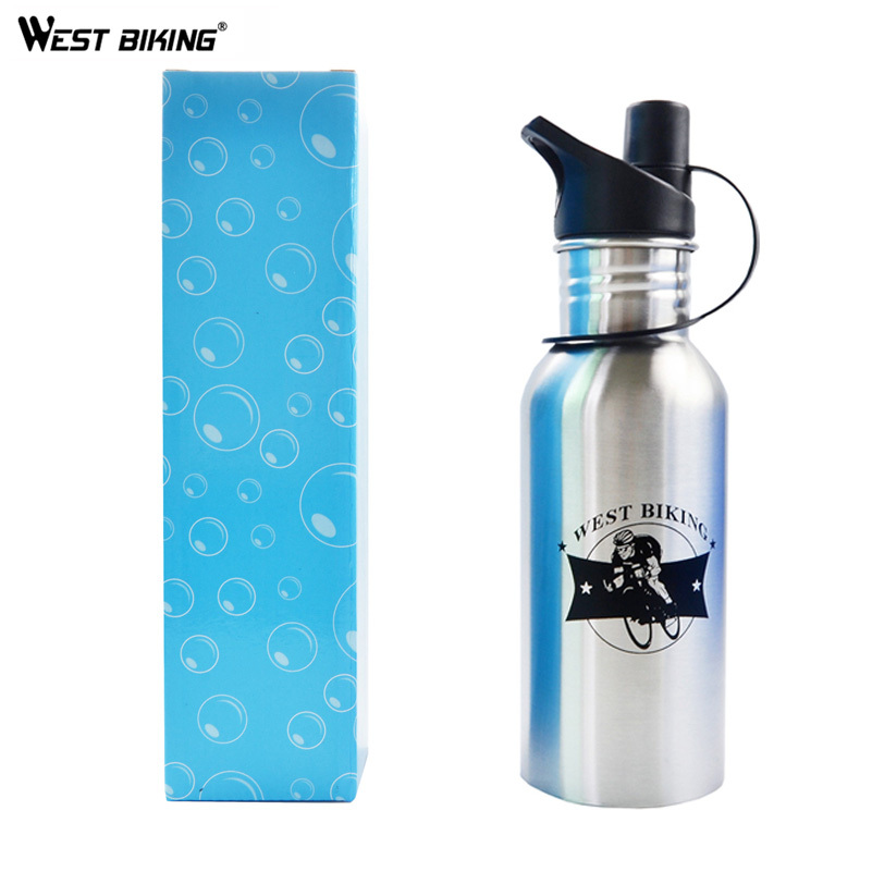 600 ML Road Mountain MTB Bike Racing Cycling Bottle Stainless Steel Healthy Sports Bottles Outdoor Bicycle Water Bottle(China (Mainland))