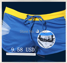 Men's leisure low waist aro shorts man running sports exercise men home wear sexy male breathe baggys protect with penis pocket