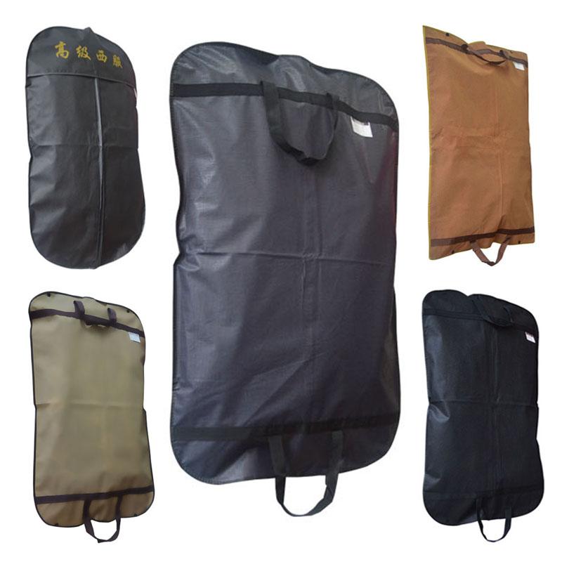 Black Non Woven Suit Zip Bag Hanger Storage Home Dress Coat Garment Storage Travel Carrier Bag Cover Hanging Dustproof Protector(China (Mainland))