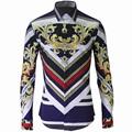 Luxury Mens Shirt Chemise Homme 2016 Unique Design Mens Slim Long Sleeve Cotton Shirts Brand Camisas
