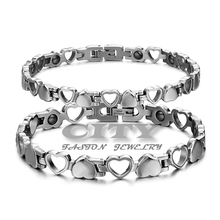 Delicate charmy special wholesale fashion 316l  titanium steel energy magnetic hollow lover's bracelets anti - fatigue CT3162(China (Mainland))