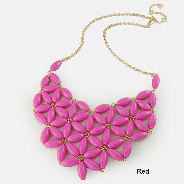 Fashion Handmade Resin Bib Statement Necklaces for  Jewelry