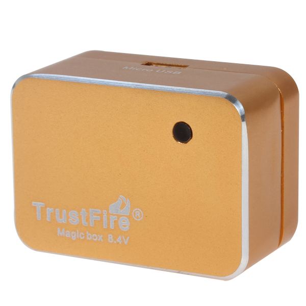TrustFire 8.4V Magic Box Battery Pack Adapter with Micro USB Output for LED Bicycle Light / Mobile Phone / MP3 / Tablet
