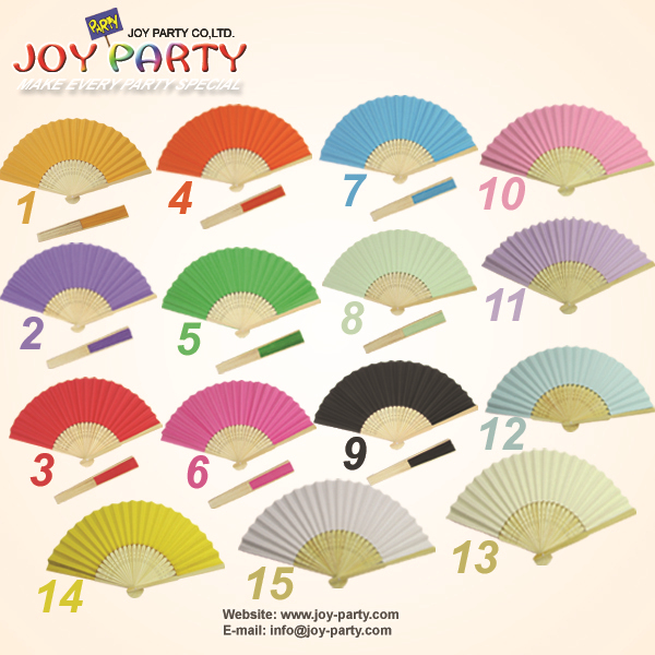 50pcs/lot Free Shipping 21cm solid color Paper hand fan wedding decoration party promotion gift favor(China (Mainland))