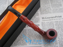 Free shipping real rose wood long fiammato Fashion Wooden pipe Tobacco Smoking Pipe – send cloth bag with gift box
