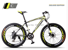 2015 New Yellow  Mountain Bike Bicycle 27 Gears Shiman0 Disc Brakes for Xmas Gift(China (Mainland))
