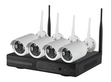 Free shiping by DHLwholesale 4CH 720p 1.0mp Wireless Wifi IP Camera Kit with 4ch NVR Onvif and Private Protocol CCTV System