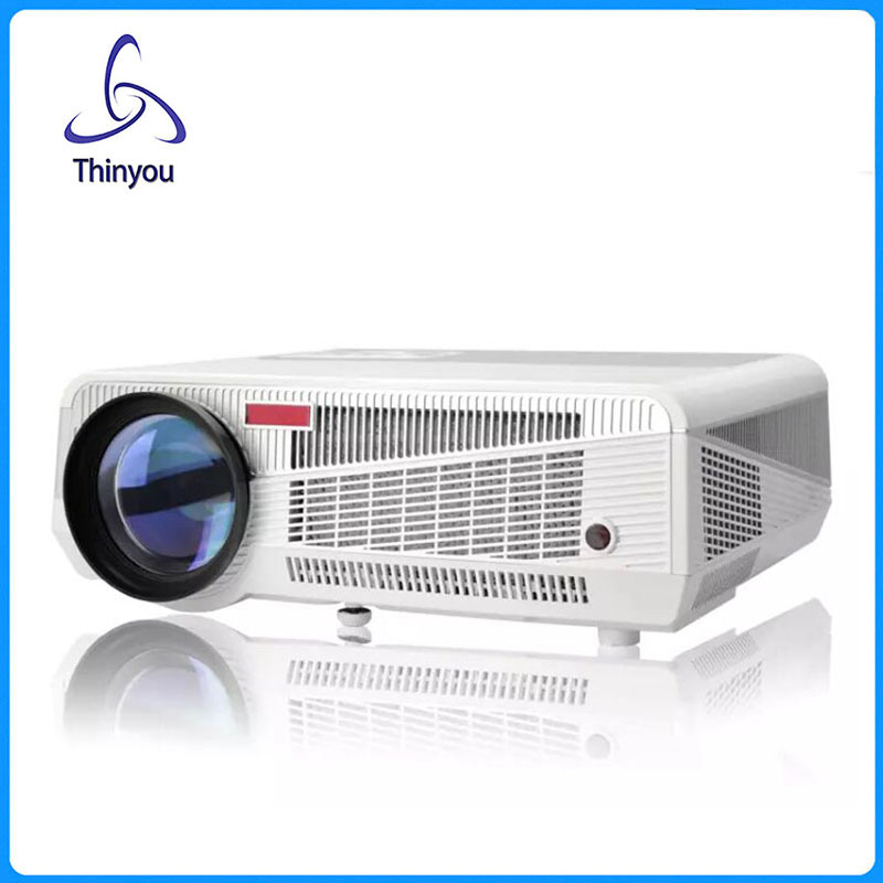 Thinyou Best LED Home Cinema Android WiFi Projector with 5500lumens Brightness Smart Multimedia LCD Video Games Proyector(China (Mainland))