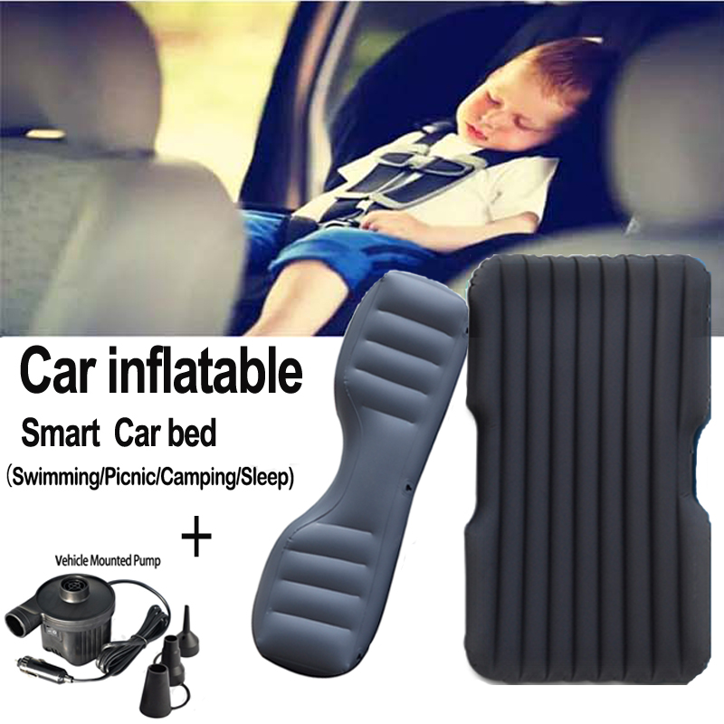 Car Back Seat Cover Car Air Mattress Outdoor Travel Bed Inflatable Mattress Air Bed  Inflatable Car Bed(oxford black)<br><br>Aliexpress