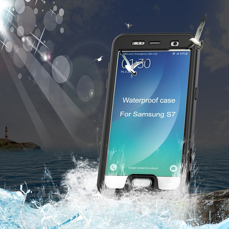 Swimming Diving Waterproof Case For Samsung Galaxy S7 & For Samsung Galaxy S7 Edge Case Ultra Thin Clear Transparent Phone Cases