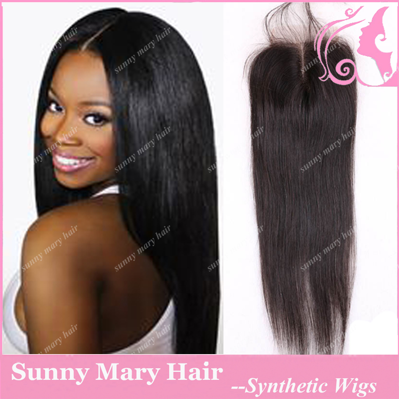 7A 4*4 Brazilian Straight Lace Closure Bleached Knots Cheap Unprocessed Permed Hair Free/Middle/3/Side Part Closures Free Ship