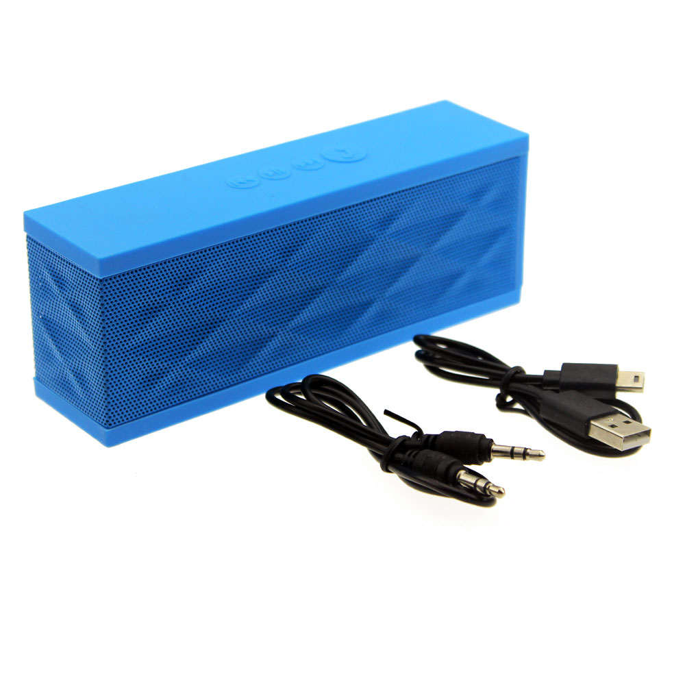 Mini Portable Bluetooth Speaker Wireless Boombox Stereo Speakers With Microphone For Cellphone ipod Mp3 Blue Color(China (Mainland))