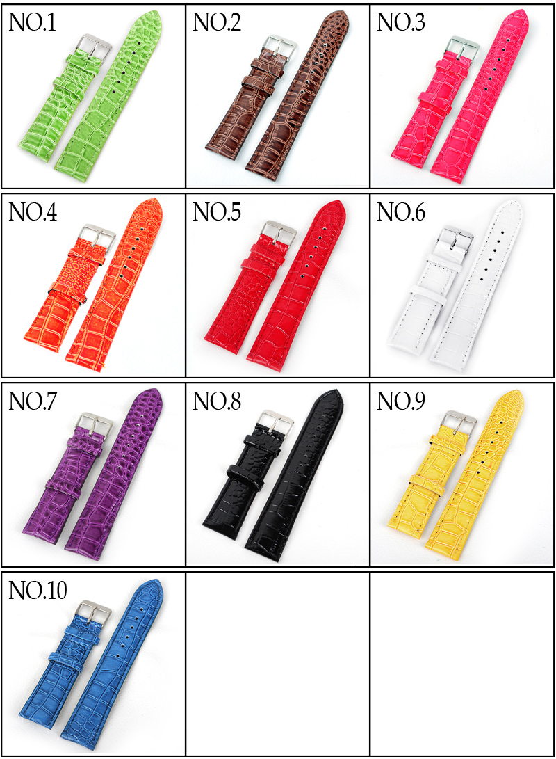 Hot Selling 1 18MM PU leather watchbands long straps Fashionable imitation wrist watch band 10color available - --The Low Price Every Day store
