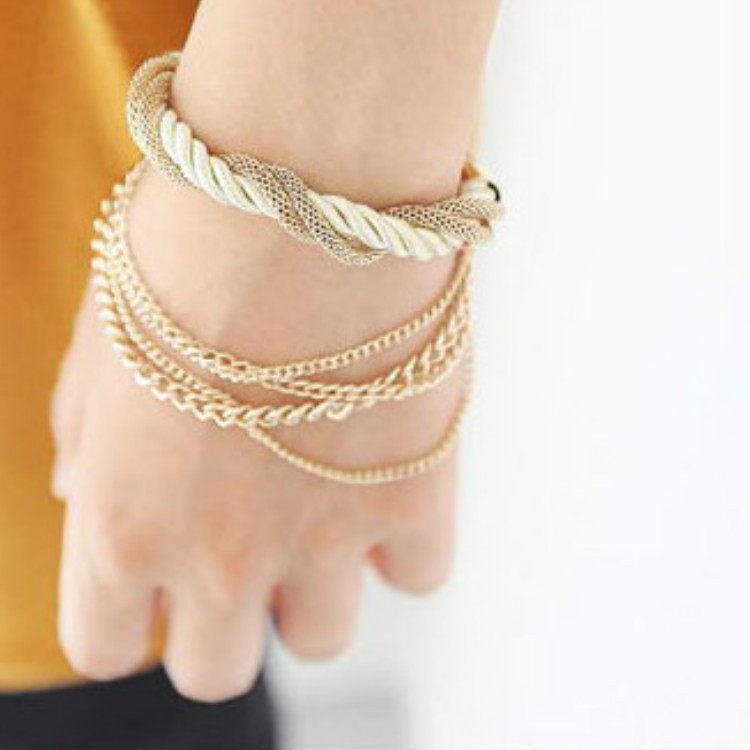 Woven Ladies Bracelet Site Selling Multi - Fashion Jewelry Hand Jewelry(China (Mainland))