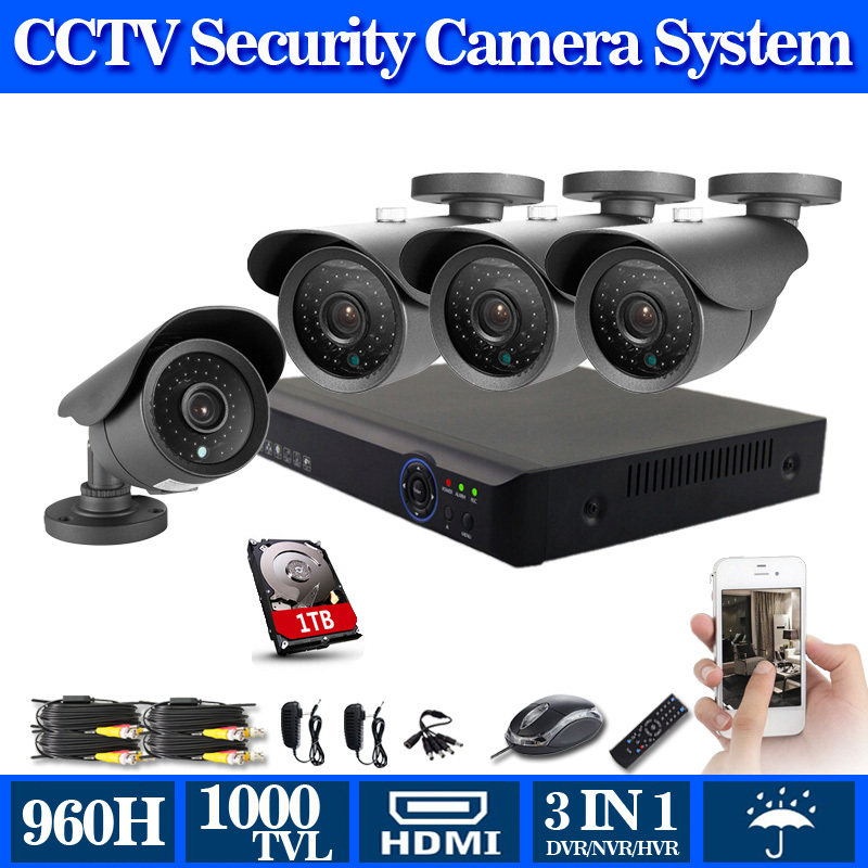 Hd 8ch home security cctv system p2p 8 channel d1 960h 1080p hybrid
