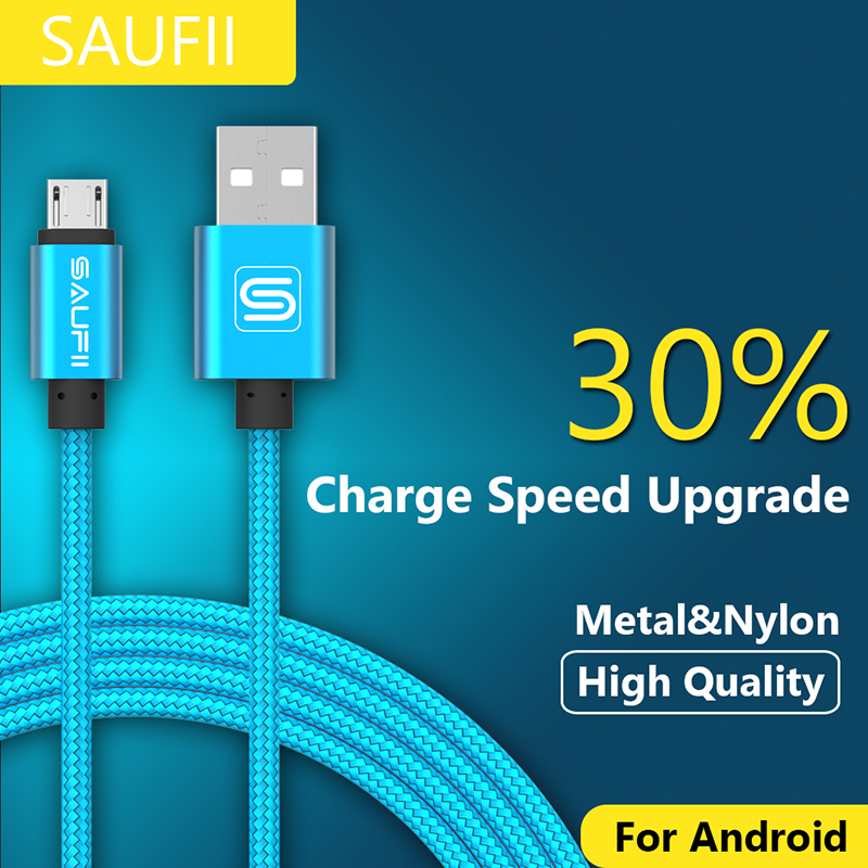 SAUFII Micro USB Cable Fast Charging Mobile Phone Cables for Andriod 5V2A 1m 02m USB Data Charger Cable for Samsung HTC LG(China (Mainland))
