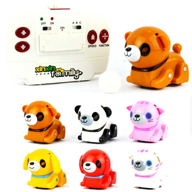 Transpace infrared mini pet electric robot dogs remote control pet parent-child football