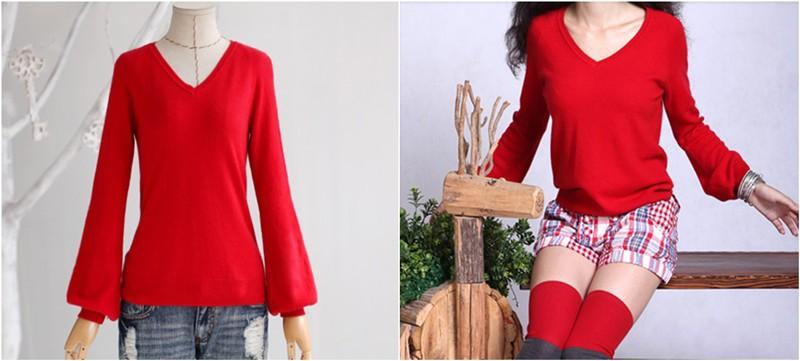 Леди винтер фонарь кашемир трикотажные v-образным вырезом свитер осень 2015 мода женщины трикотаж перемычка новое