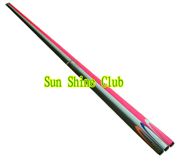 Free shipping!! High quality full carbon 1/2 snooker cue stick damp proofing stainless joint 9.5mm tip very pretty hotsales(China (Mainland))