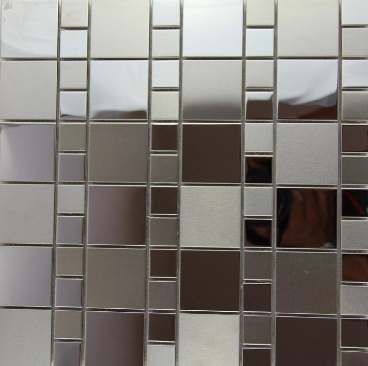 Caliente venta plaza mosaico de plata del metal de hoja de - Paneles decorativos bano ...