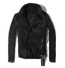 M-XXL ! HOT !! Free shipping Men's brand new fashion slim casual Retro Locomotive denim Jacket Coat singer costumes clothing(China (Mainland))