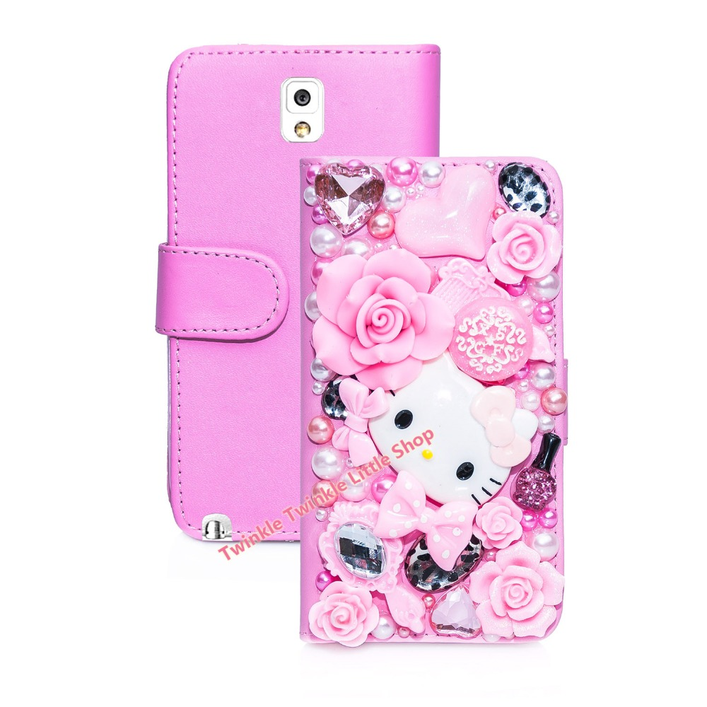 Handmade Cute Diamond Wallet Leather 3D Bling Case For Samsung Galaxy Note2 Note3 Note 4 Note 5 S4 i9500 S5 i9600(China (Mainland))