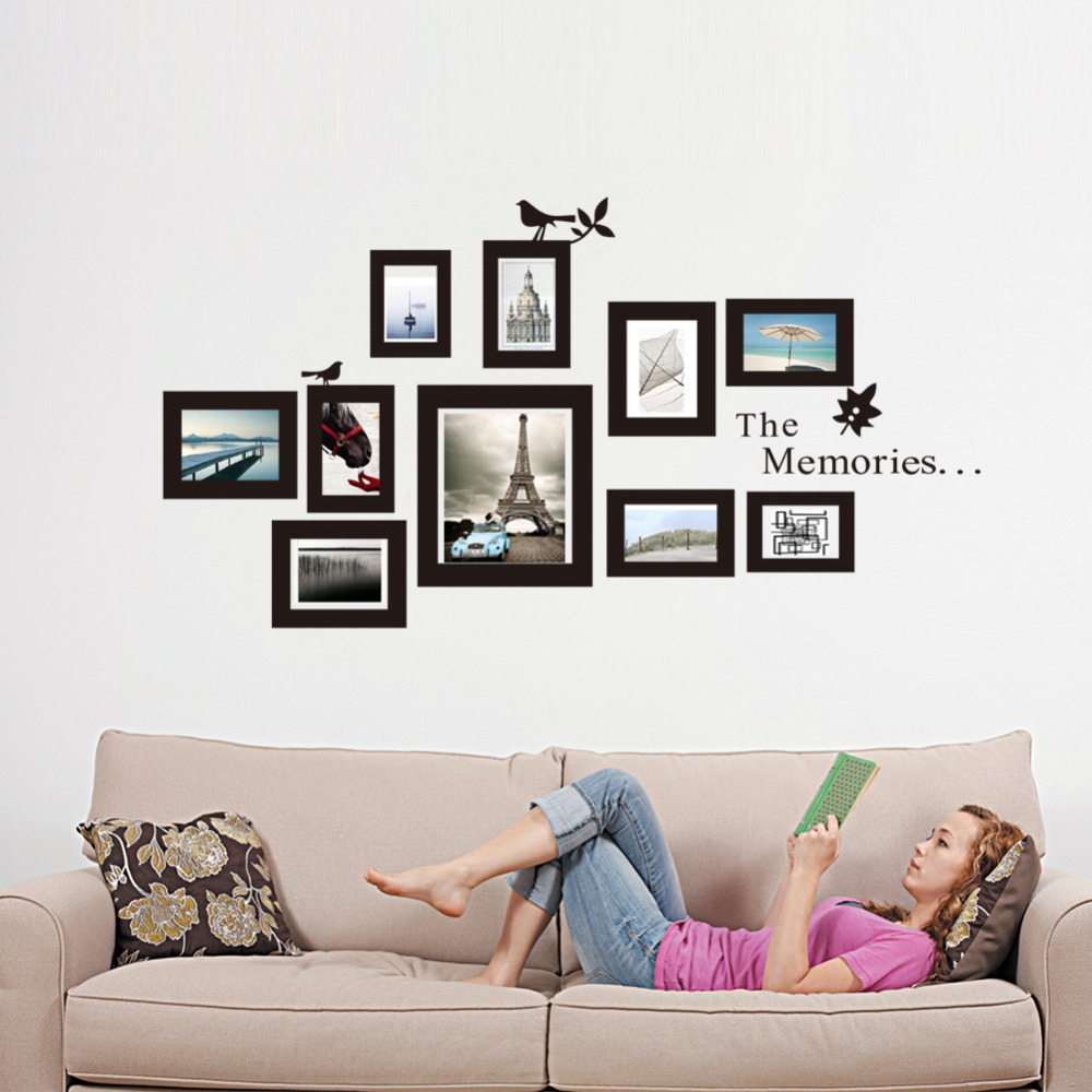 Vinyl Photo Frames Photo Frame Wall Decals