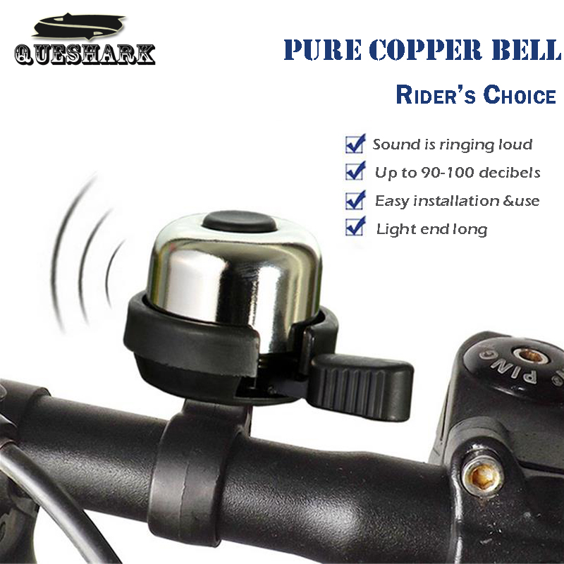 Pure Copper MTB Bike Bell Brass Ring Sound Bicycle Accessories Crisp Sound Handlebar Horn Classic Mountain Bike Cycling Bell(China (Mainland))