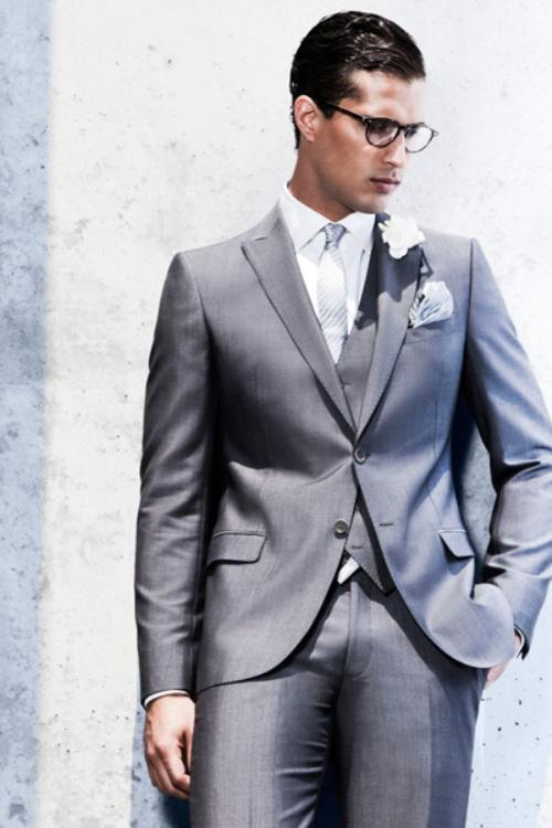 New Arrival Wedding Suits For Men Tuxedos For Men Silver