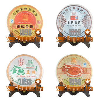 Promotion!! 1428g Puer Combination Tea 4pcs 357g Puerh Puer Raw(Sheng)+Ripe(Shu) Tea Cake,Weight Loss,Free Shipping<br><br>Aliexpress