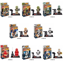 2015 NEW 8 pcs/lot Star Wars figures building blocks sets Minifigures bricks claasic toys Compatible With