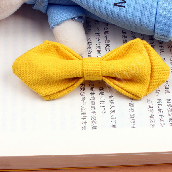 Hot Sale Special Offer Boys and girl Bow Tie Children Dot Solid Bowknot Optionall fashion Striped Pin Bowties with 14 Colors(China (Mainland))