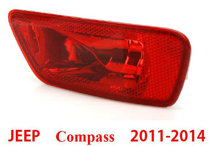 Replacement Parts jeep compass External left right rear tail bumper fog light uni housing 2011 2012 2013 2014 2015 - Car Of The World store