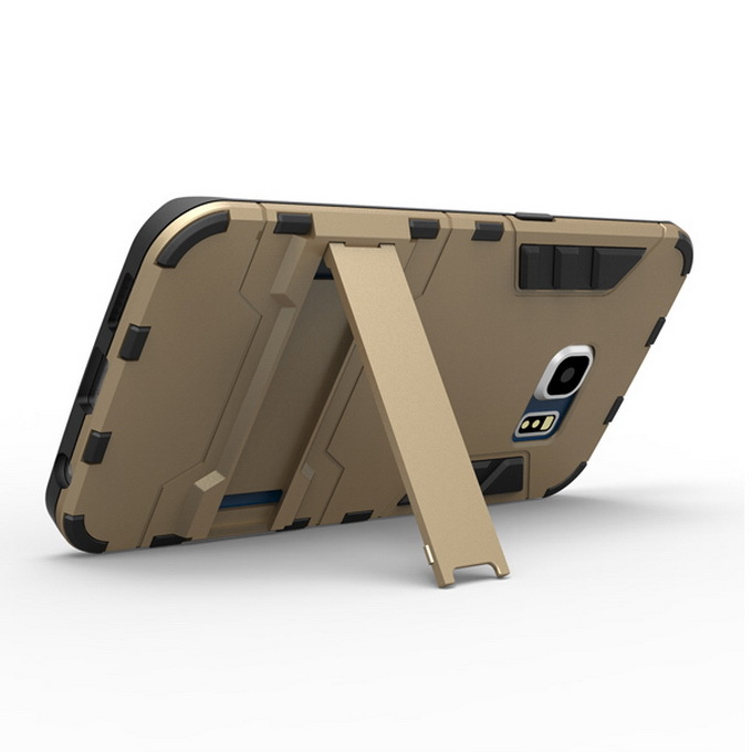 S6 edge 2 in 1 Hybrid Kickstand Cover For Samsung Galaxy S6 edge G9250 G925 Hard Armor PC + Soft TPU Silicone Phone Case 10pcs