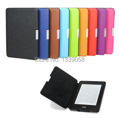 PU Leather Smart Magnetic Ultra-slim Wake Up Case Cover For Kindle Paperwhite(For kindle paperwhite 1:1)(China (Mainland))
