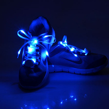 Cool Fashion LED Shoelaces 103cm Shoe Laces Flash Light Up Glow Stick Strap Flat Shoelaces Disco Party for Shoe Accessories(China (Mainland))